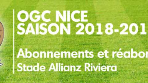 Abonnements OGC Nice 2018-19