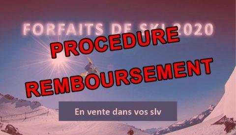 PROCÉDURE REMBOURSEMENT – forfaits de ski 2020